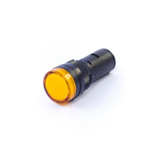 10 x LED Indicator Lights 16mm Pilot Lights 24VAC//DC White Green Red Blue Amber
