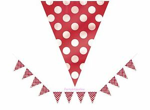 Red-Spotty-Flag-Banner-Bunting-12ft-Party-Decoration