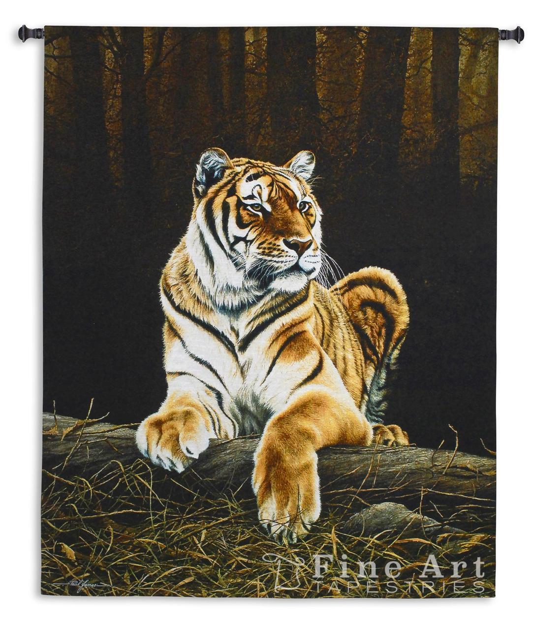 66x52 TIGER GRANDEUR Jungle Cat Wildlife Tapestry Wall Hanging