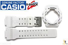CASIO G-Shock GA-100A-7AW Original White Watch BAND & BEZEL Combo