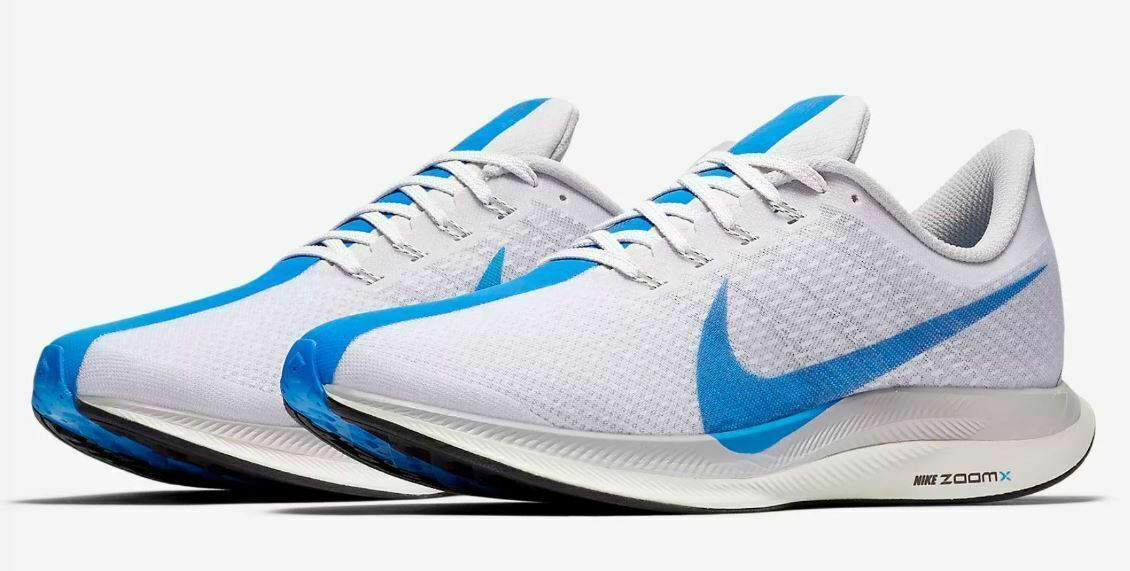 Nike Zoom Pegasus 35 Turbo shoes -White bluee Hero -Size 11 -AJ4114 140 New