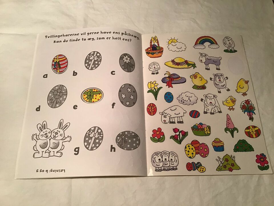 Tegne/male, Bog med 333 påske klistermærker