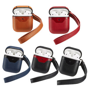 Wireless-Bluetooth-Earphone-Leather-Case-Earbuds-Cover-For-Apple-AirPods-iPhone