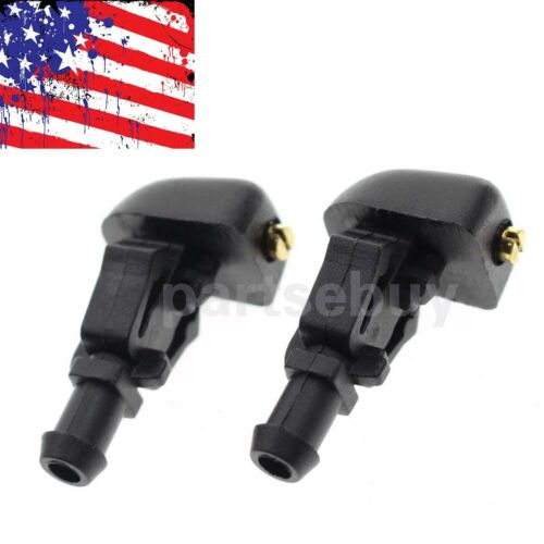 2PCS Windshield Washer Nozzle 3W7Z-17603-AA For Ford F-150 Flex Crown Victoria