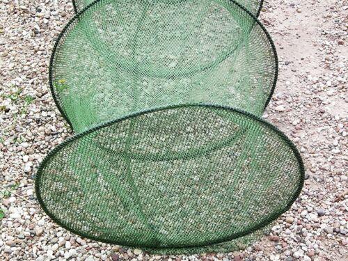 2,20 m Setzkescher Setz Kescher Reuse Fischnetz gummiert 260014