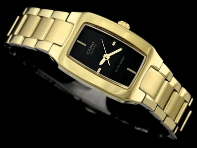 LTP-1165N-1C Gold Casio Lady Watches Stainless Steel band Ladies Fashion New