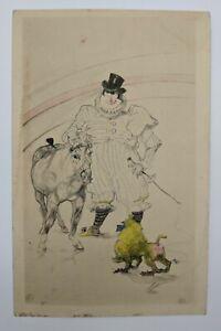 """Antique Art Post Card """"At The Circus 1899"""" by Henri De Toulouse-Lautrec"""