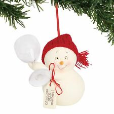 3 Hanging Ornament Department 56 Snowpinions of Course Size Matters Multicolor
