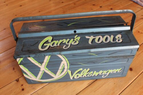 "Volkswagen Custom Hand painted VW Rusty Tool Box /""Tell me the name you want/"""