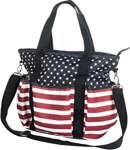Dettagli su HKM Cavallo Toelettatura Borsa USA stelle e strisce bandiera  americana Borsa- mostra il titolo originale