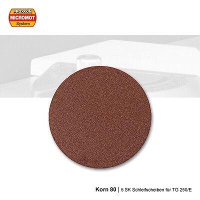 5 Stück Proxxon 28970 SK Schleifscheiben für TG 250//E Korn 80 1,99€//Stück