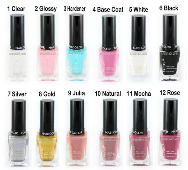 20pcs Nail Manicure NABI Nail Polish (pick your own color)