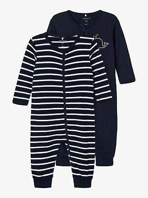 Name it Baby Mädchen Schlafanzug 2er Pack Gr 50-98 Schlafoverall NBFNIGHTSUIT