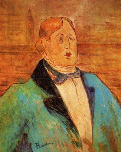 Protrait of Oscar Wilde by Toulouse-Lautrec 8x10 Print Playwright Wit Art 125