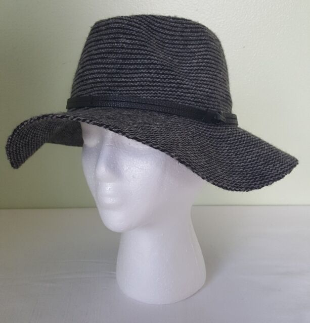 Buy Vince Camuto Womens Panama Hat With Logo Band Black O s T u C12 ... 82abc72390ac