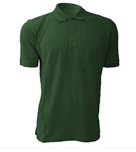 78eabe42 Jerzees Mens Polo Shirt Cotton Short Sleeve Pique Green Large 40/42 ...