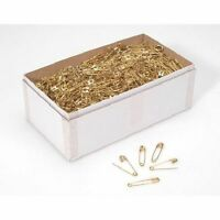 Size Number 1 Gold Safety Pins Bulk 1440 Pieces 1-1/8 Inch Premium Color