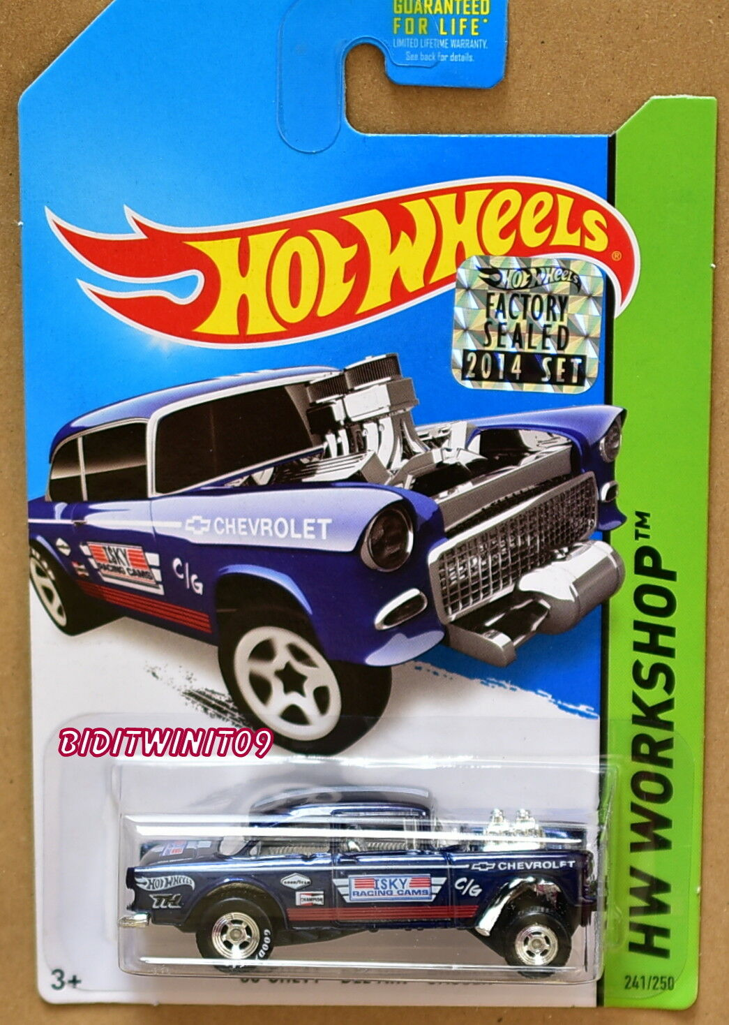 HOT WHEELS 2014 SUPER TREASURE HUNT '55 CHEVY BEL AIR GASSER FACTORY SEALED W+