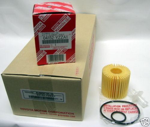 Genuine Toyota Oil Filter 04152-YZZA1 Qty. 10 Case