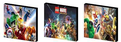 LEGO SUPER HEROES / AVENGERS - CANVAS ART BLOCKS/ WALL ART PLAQUES/PICTURES