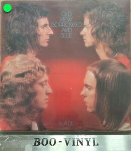SLADE-Old-New-Borrowed-And-Blue-Vinyl-LP-Gatefold-Cover-A1-B1-Vg-Con