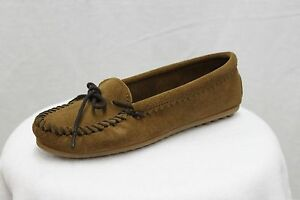 Minnetonka-Moccasin-Driving-Mocs-Brown-Suede-Loafers-MSRP-55-NEW