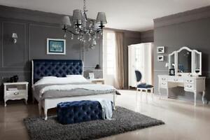 Das Bild Wird Geladen Schlafzimmer Set Designer Chesterfield Bett  Nachttische Kommode Schrank