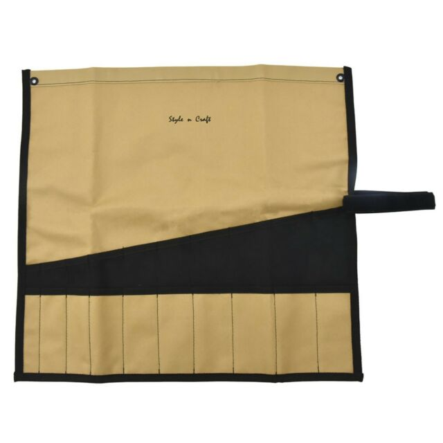 Style n Craft 76509-12 Pocket Wrench Roll Tool Pouch in Heavy Duty Polyester