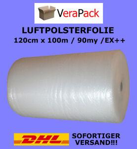 LUFTPOLSTERFOLIE 120cm x 100m / 90my EXTRA++ Noppenfolie Blasenfolie TOP ANGEBOT