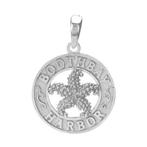 925 Sterling Silver Travel Charm Pendant, Boothbay Harbor, Starfish Center Vzuld9jh-08000045-372894585