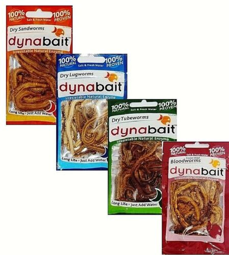 DynaBait Dried Blood Tube Sand Worm Dyna Bait Fishing Lure Bream Flathead Cod