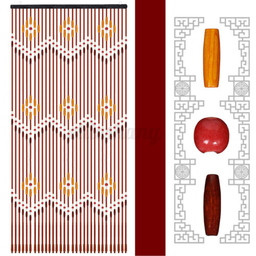 6Types Wooden Bead Door Curtain Net Blinds Fly Screen Room Divider Panel  Decor