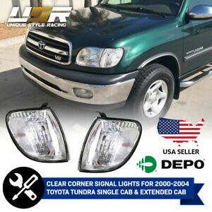 CLEAR Corner Light For 2000-04 Toyota Tundra Regular or Access Cab Pickup Truck