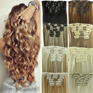 Real-as-remy-human-hair-Long-Clip-in-Hair-Extensions-Full-Head-Wavy-Straight-L08