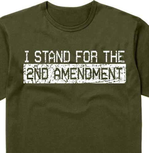 I Stand For The 2nd Amendment shirt gym ruger sig sauer guns ar15 tactical rifle