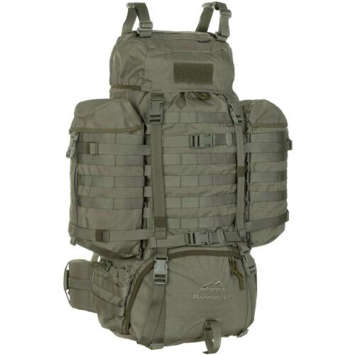 WISPORT TACTICAL RACCOON MILITARY RUCKSACK SECURITY MOLLE HIKING 85L RAL 7013