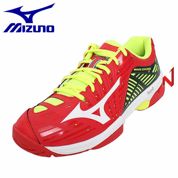 Zapatos de Tenis Mizuno Wave Exceed 2 AC 61GA182062 Rojo rojo Fluo Amarillo