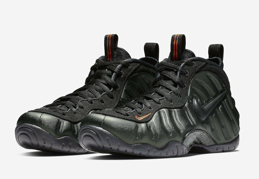NIKE AIR FOAMPOSITE PRO SEQUOIA BLACK-TEAM orange [624041-304] US MEN SZ 12