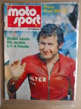 MOTO SPORT n°44 1975 [G320] Prova Guzzi 850 T3 - Walter Villa Mondiale