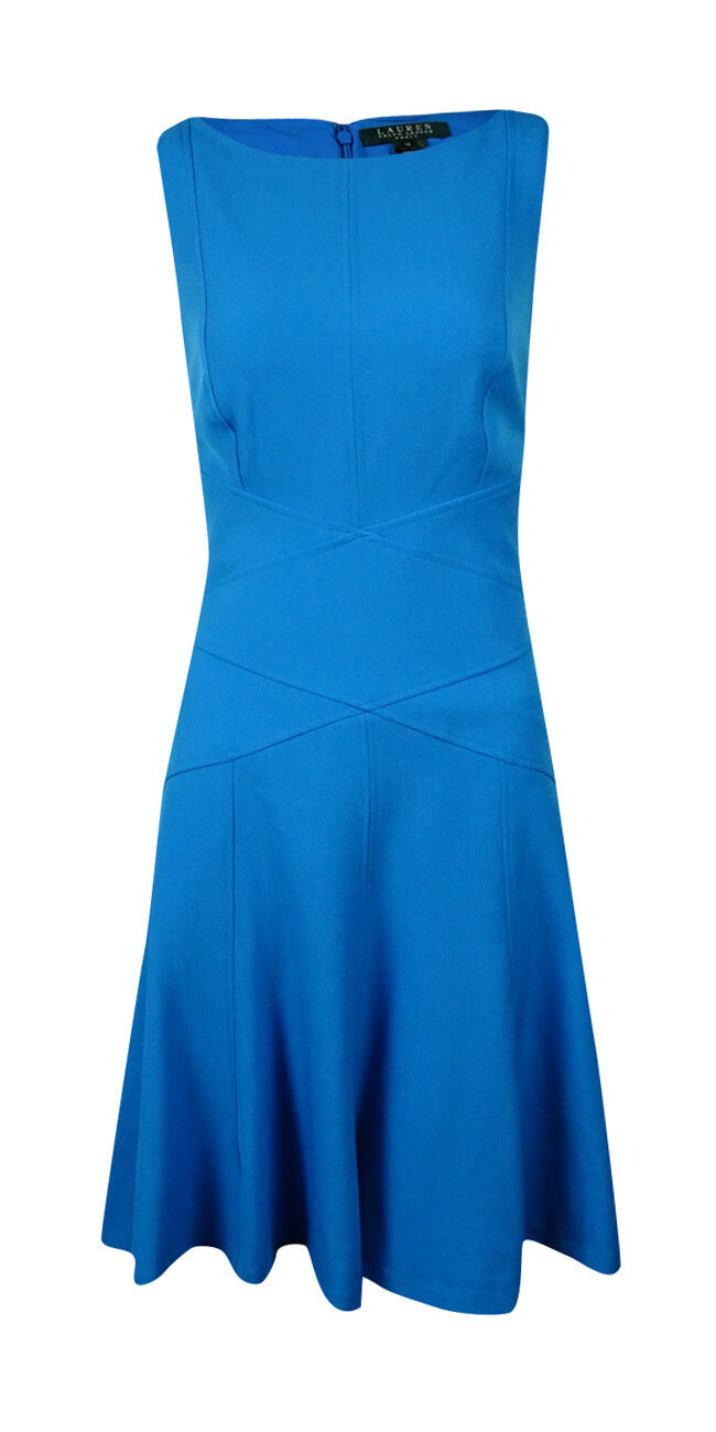 NWT Ralph Lauren Flared Sleeveless Dress Size 16