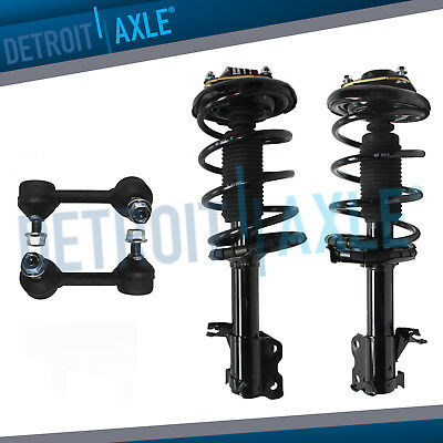 Both Front Sway Bar End Links for 2004 2005 2006 2007 2008 Nissan Maxima Pair Complete Front Struts /& Coil Spring Assembly Set Detroit Axle
