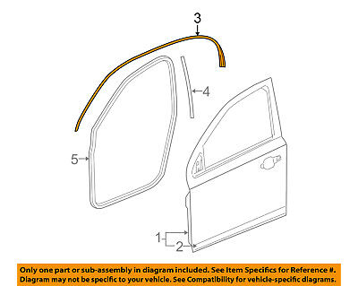 GM OEM Front Door-Belt Weatherstrip Weather Strip Seal Left 15753759