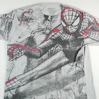Amazing Spider Man Adults Sz XL Shirt Graphic Tee Marvel Comics All Over 10614
