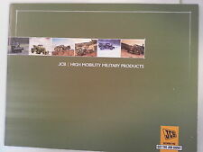 JCB / High Mobility Military Products Catalog Booklet / New 15 Pages