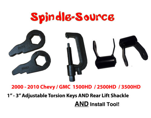 "SHACKLES 00 10 Silverado Sierra 2500 3500 HD Lift Level 3/"" Torsion Keys TOOL"