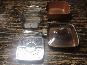 Chef-5-piezas-conjunto-de-utensilios-de-cocina-de-cobre-9-5-034-Antiadherente-Profundo-conjunto-pan
