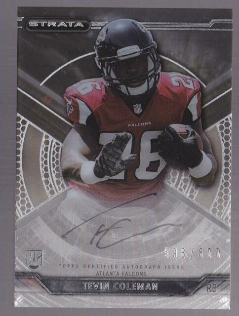 TEVIN COLEMAN RC 2015 TOPPS STRATA ROOKIE AUTO #598/800 FALCONS AUTOGRAPH