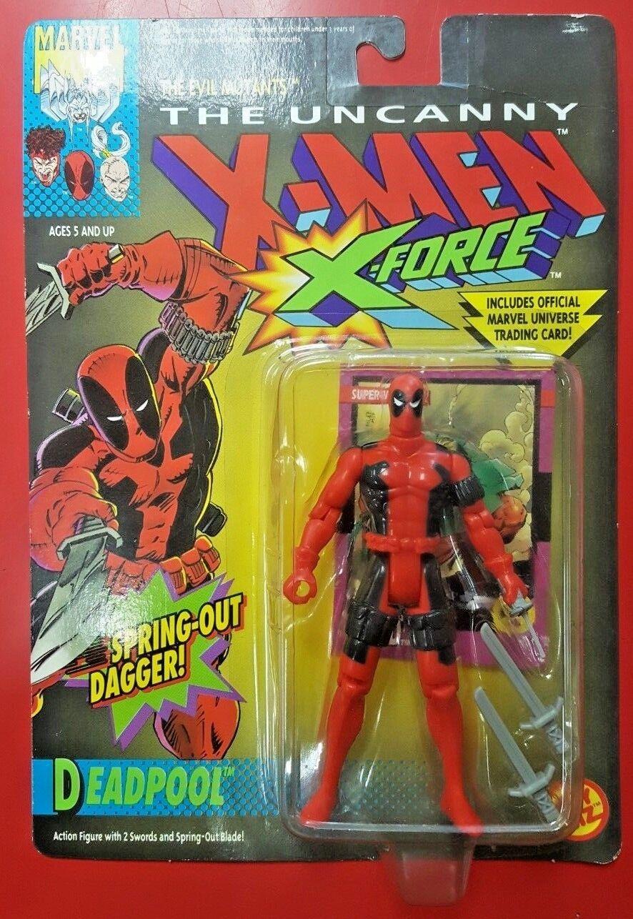 1992 ToyBiz Deadpool Uncanny X-Men X-Force Action Figure New Sealed On Card