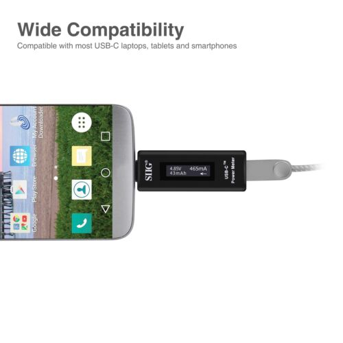 SIIG USB-C Power Meter Tester with Digital Indicator CE-TE0011-S1