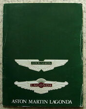 ASTON MARTIN LAGONDA Car Range Sales Brochure 1984 V8 Saloon VOLANTE Vantage